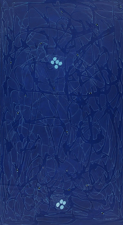 Nesly Richard - Blue birds (76x137cm)