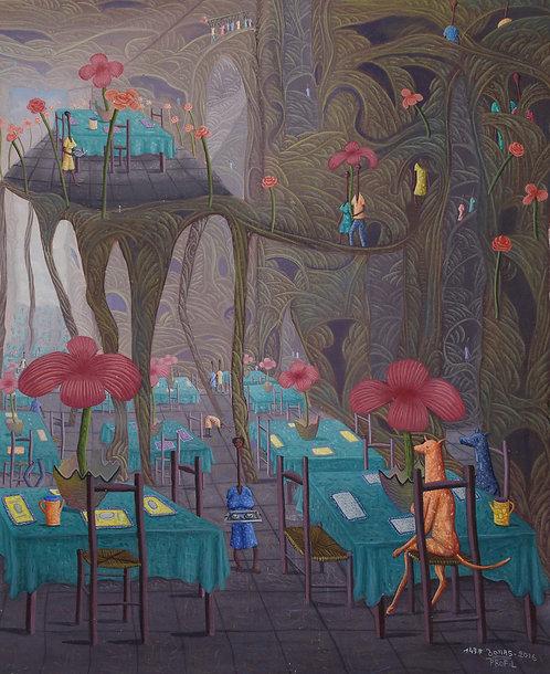 Jonas Profil - The restaurant of lovers (50x60cm)