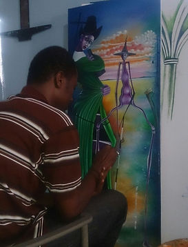 AYITI Gallery. Haitian Artist. Gino Tintin. Haitian art gallery. Visionary artist. Haiti. Emerging artist.  Invest in Art. Up-and-coming master. Art Collection.