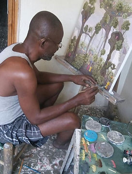 AYITI Gallery. Haitian Artist. Jonas Profil. Haitian art gallery. Visionary artist. Haiti. Emerging artist.  Invest in Art. Up-and-coming master. Art Collection.