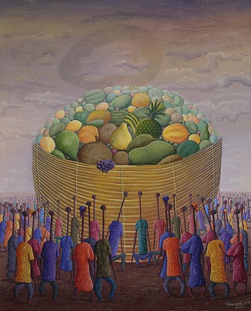 Jonas Profil - Unity gives fruits (60x76cm)