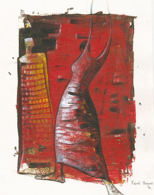 Hugues Ferol - Agressive (28x36cm)
