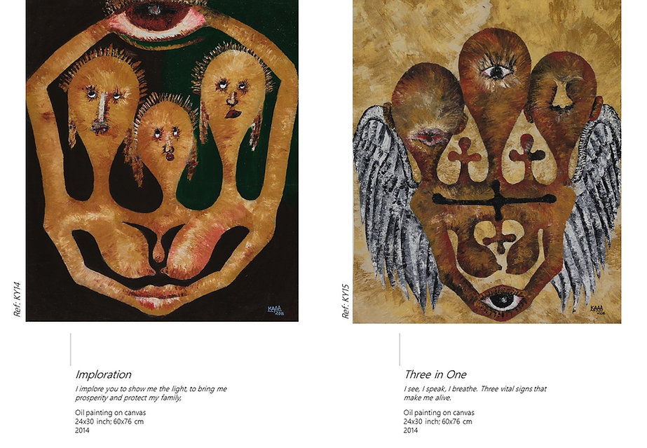 AYITI Gallery. Haitian Artist Kayava. Haitian art. Visionary artist. Haiti. Emerging artist.  Invest in Art.