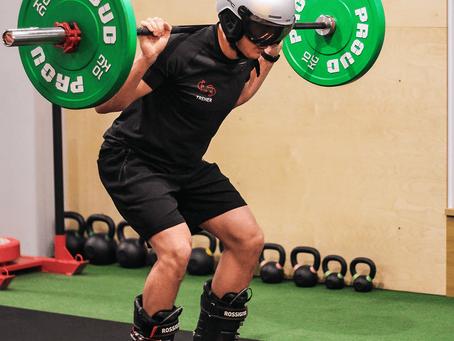 Trening narciarza