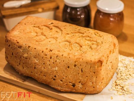 Pszenny chleb na drożdżach, którego nie trzeba wyrabiać