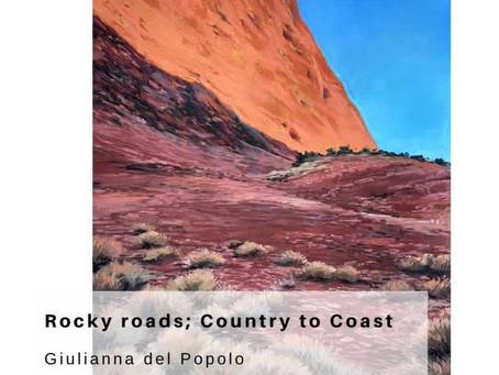 "Solo exhibition in soft pastel ""Rocky roads; Country to Coast"""