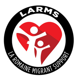 LARMS La Romaine Migrant Support Logo