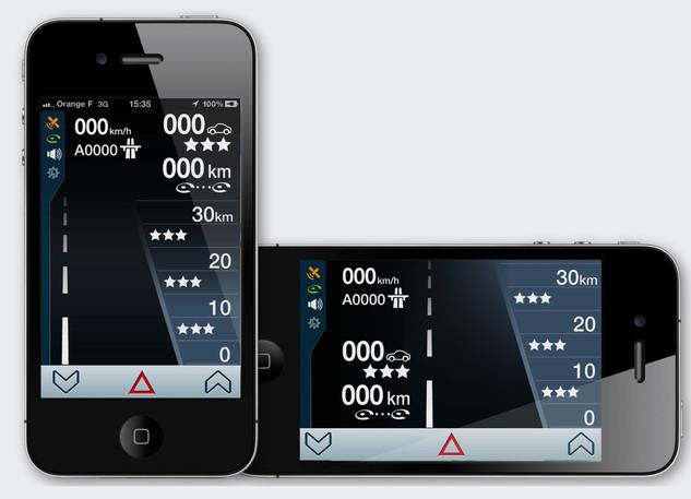 Interface UI UX de navigation