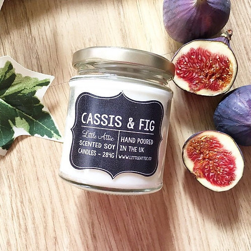Cassis And Fig Scented Soy Candle