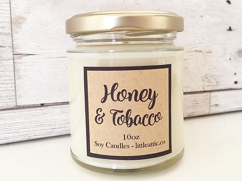 Honey And Tobacco Scented Soy Candle