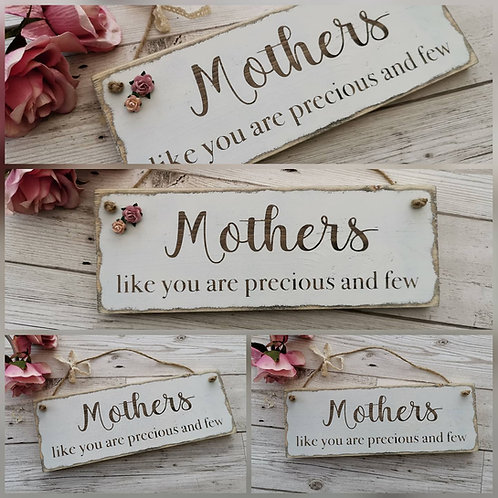 Mum Sign, Rustic Wooden Sign For Mothers Day