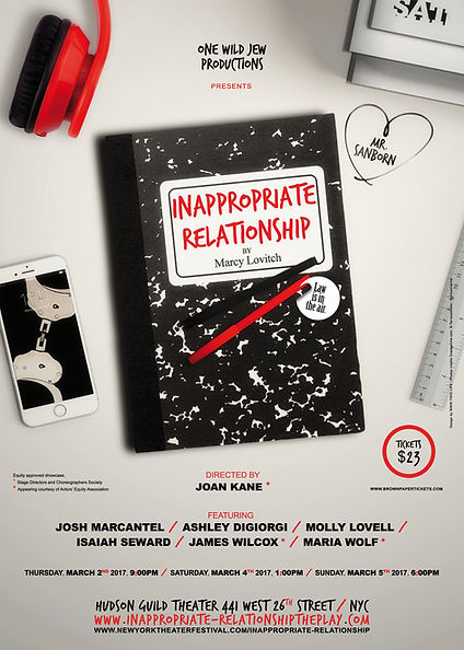 Inappropriate Relationship, the play - NYC Hudson Guild Theater