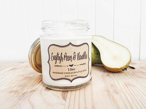 English Pear And Vanilla Scented Candle