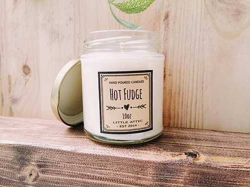 Fudge Scented Candle, Soy Candles
