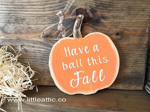 Autumn Decor Rustic Pumpkin Sign