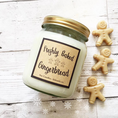 Gingerbread Scented Soy Wax Candle