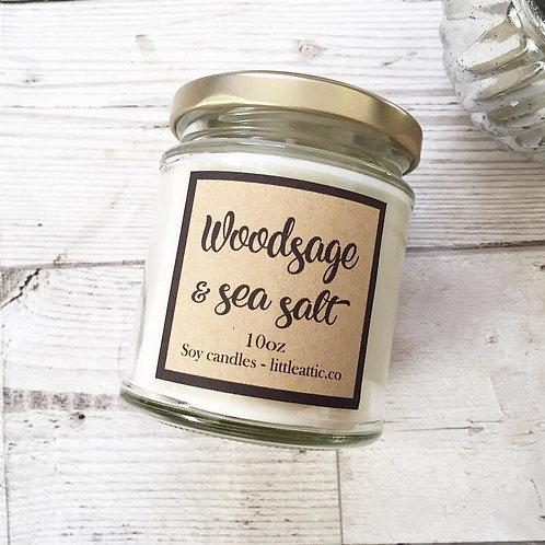 Wood, Sage And Sea Salt Soy Candle