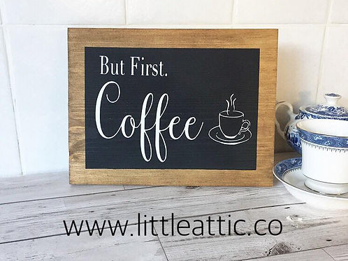 Coffee Sign For Kitchen