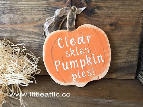 Wooden Pumpkin Decor