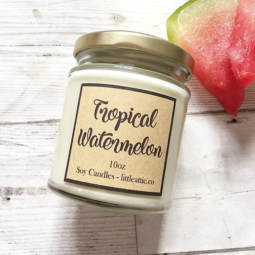 Tropical Watermelon Scented Soy Candle