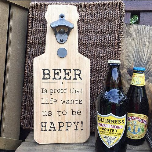 Wooden Beer Bottle Opener