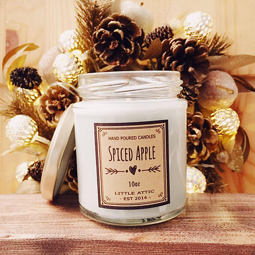 Apple Cinnamon Soy Candle, Christmas Candles