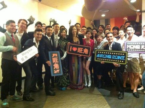 Our team photo with Hong Kong actress Selena Li