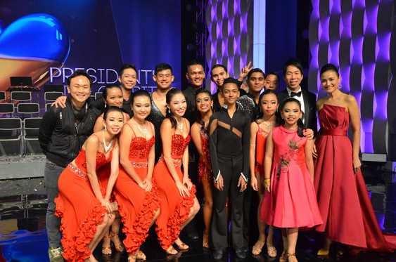Our dancers at The President's Star Charity