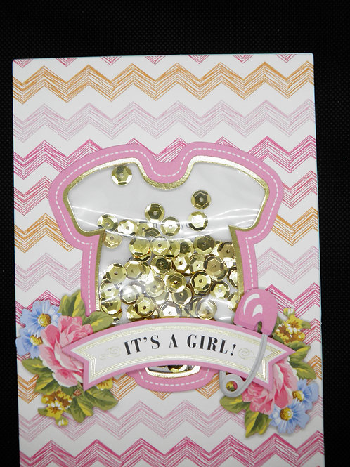 Newborn Card - It's a Girl