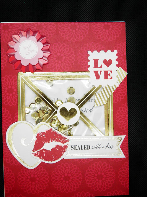 Valentines Card - Sealed With a Kiss
