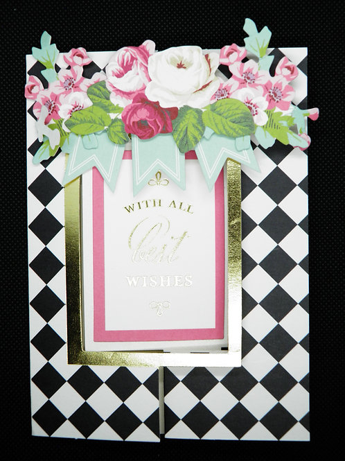 Fold Out Birthday Card - With All Best Wishes