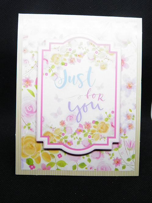 Birthday Card - Just For You