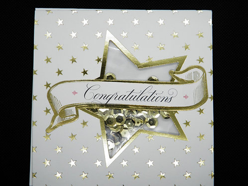 Congratulations - Gold Star