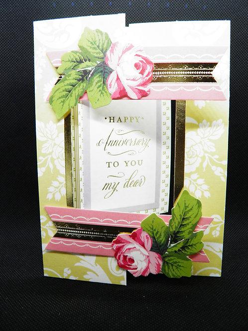 "Anniversary Card - ""Happy Anniversary To You My Dear"""