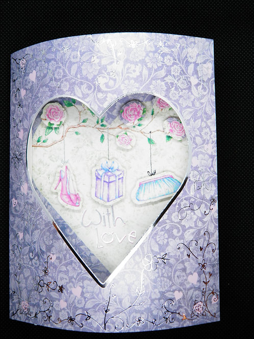 Birthday Card -3D - With Love