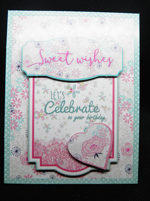 Birthday Card - Let's Celebrate On Your Birthday