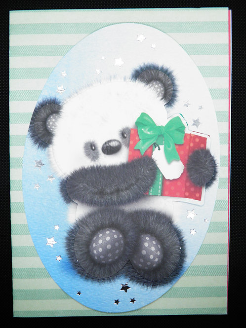 Kids Card - Panda - Just for You With Love