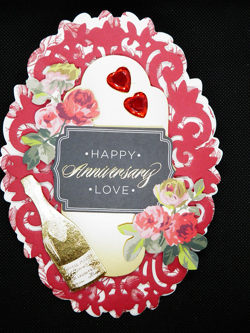 Anniversary Easel Card - Happy Anniversary Love