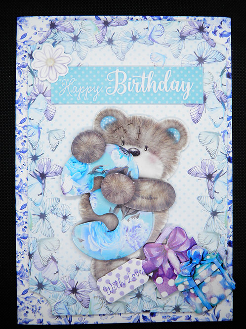 Birthday Card - Girl Age 3