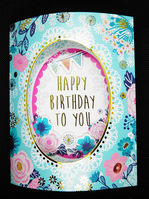 Birthday Card - 3D - Hope You Have the Best Birthday