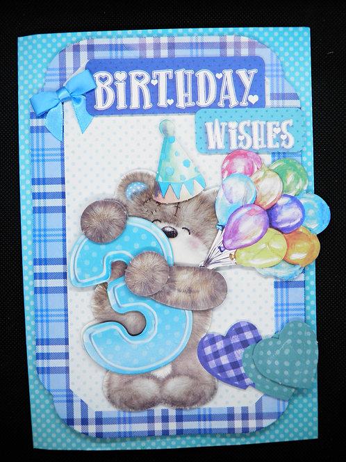 Birthday Card - Boy Age 3