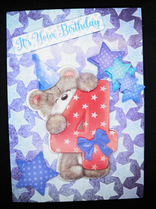 Birthday Card - Boy Age 4