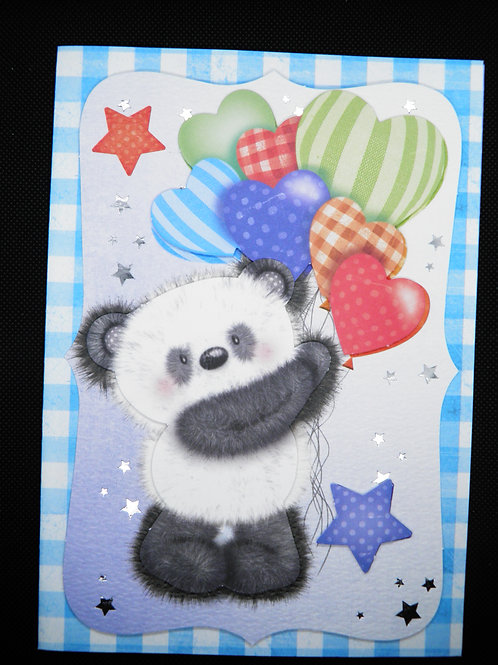 Kids Card - Panda - Congratulations on Your Special Day With Love