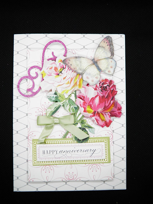Anniversary Card - Life is so Beautiful When Touched by Love