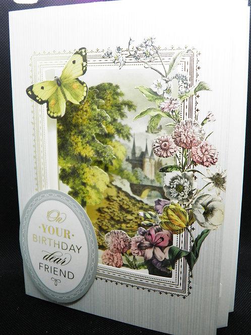 Birthday - 3D Shadow Box Card - Your Birthday Dear Friend