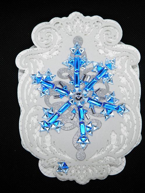 Christmas Easel Card - Snowflake