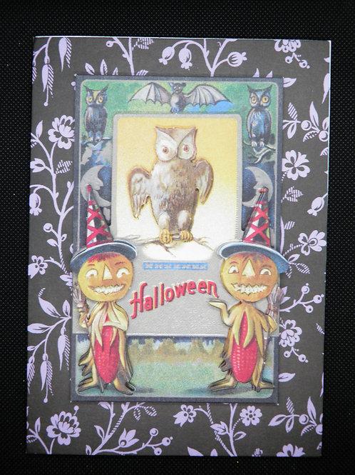 Halloween - Owl & Pumpkins