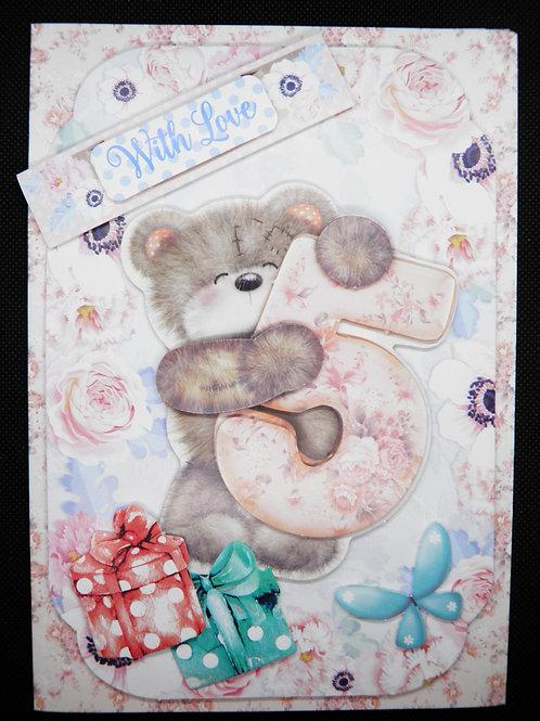 Birthday Card - Girl Age 5
