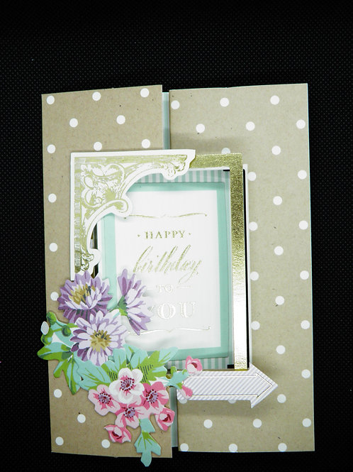 Fold Out Birthday Card - Happy Birthday to You