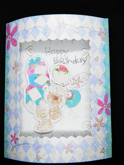Birthday Card - 3D - Have a Wonderful Birthday